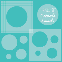 Circle Spotlight Set of 7, Honey Bee Stencil & Mask Set - 652827603874