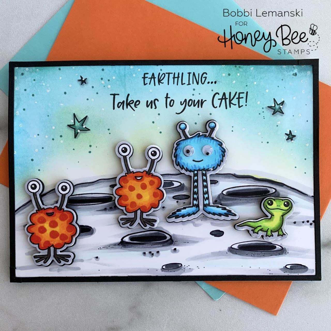 Far Out Friends, Honey Bee Clear Stamps - 652827603935