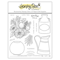 Farm Fresh Flowers, Honey Bee Clear Stamps - 652827604079