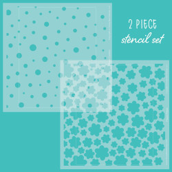 Flower Builder Background Set of 2, Honey Bee Stencils - 652827603829