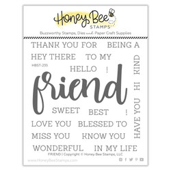 Friend, Honey Bee Clear Stamps - 652827603980