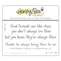 Good Friends, Honey Bee Clear Stamps - 652827603959