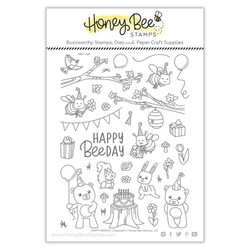 Happy BEEday, Honey Bee Clear Stamps - 652827603898