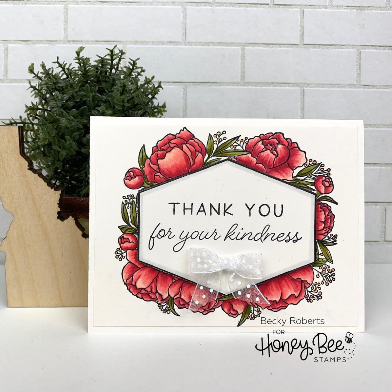 In Full Bloom, Honey Bee Clear Stamps - 652827604062