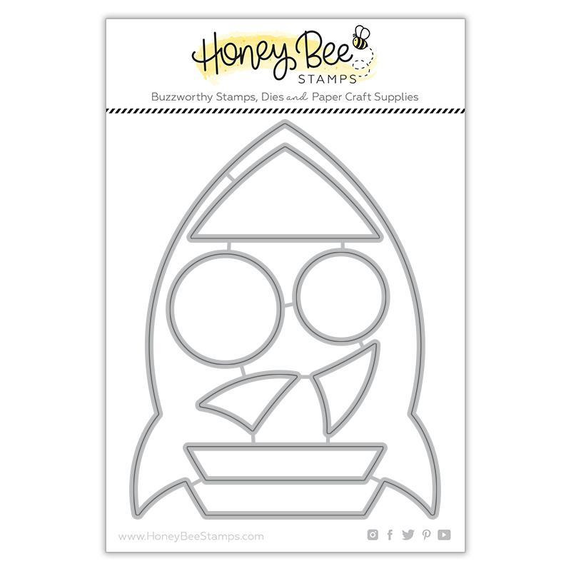 Rocket Ship Card Base, Honey Cuts Dies - 652827603607