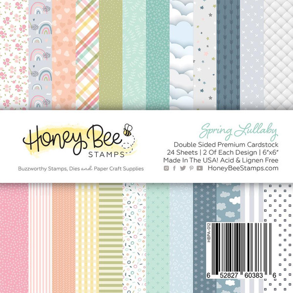 Spring Lullaby, Honey Bee 6 X 6 Paper Pad - 652827603836