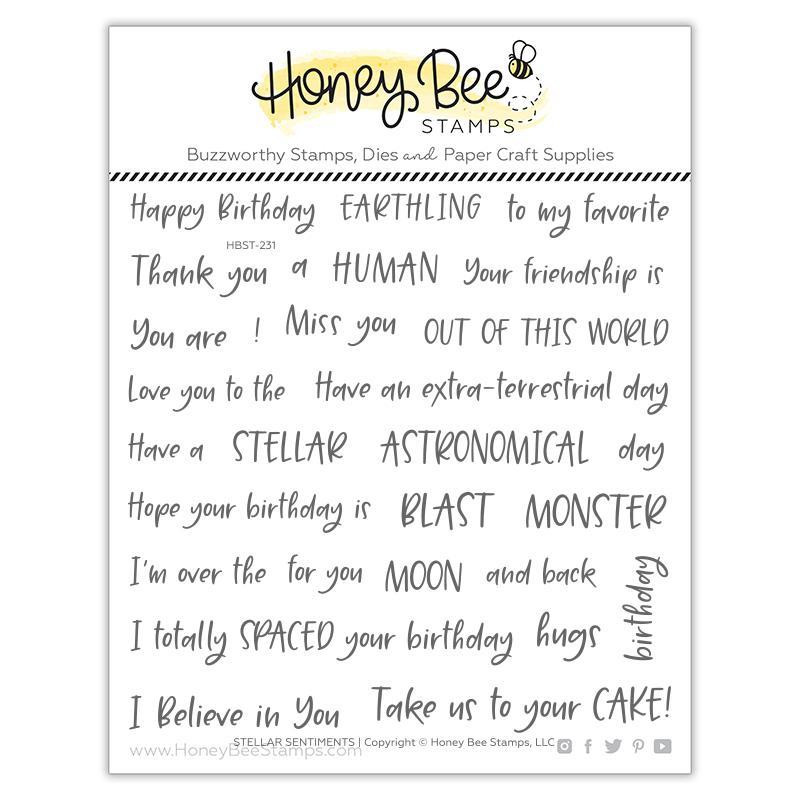 Stellar Sentiments, Honey Bee Clear Stamps - 652827603942