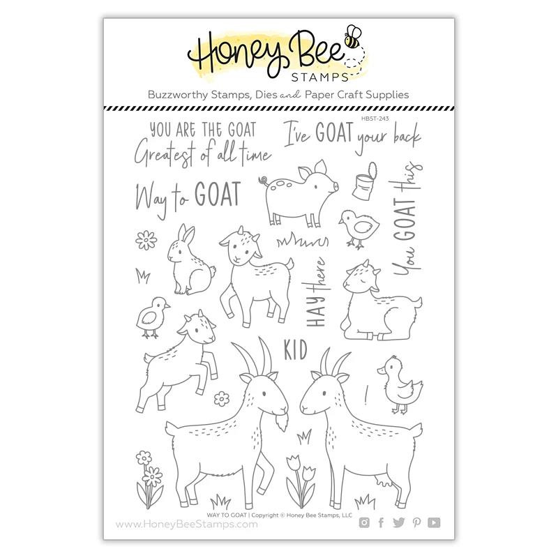 Way to Goat, Honey Bee Clear Stamps - 652827604093
