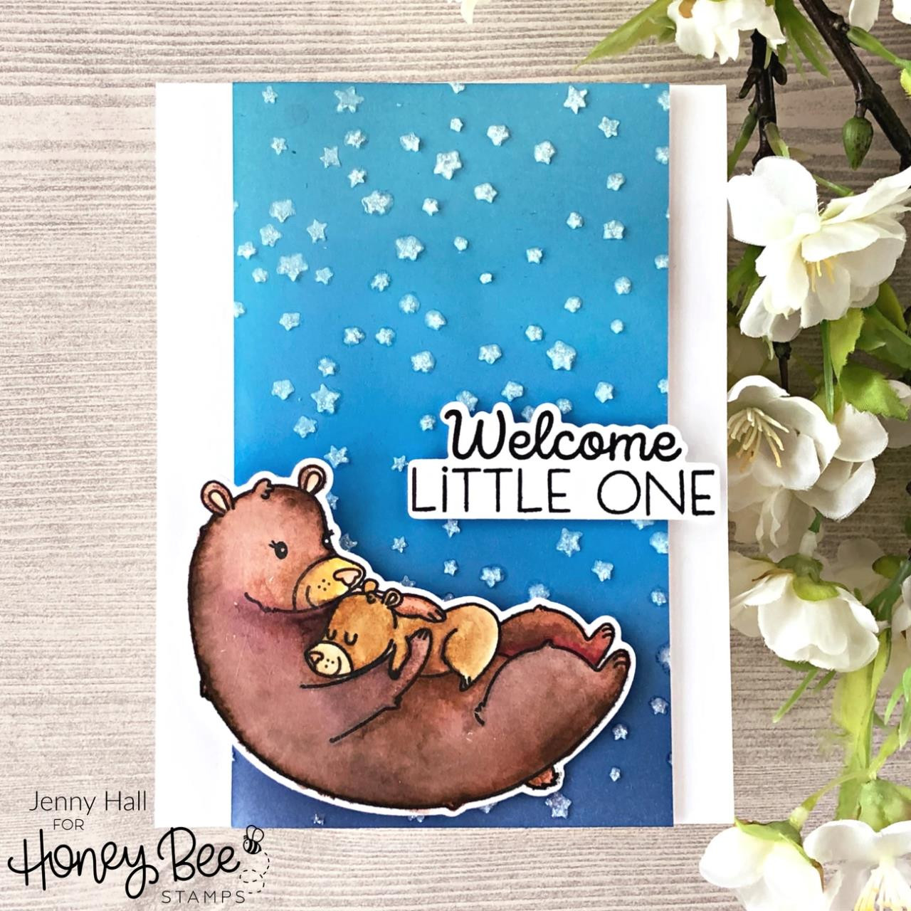 Woodland Babies, Honey Bee Clear Stamps - 652827604048