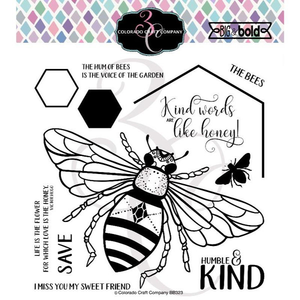 Honey Bee, Colorado Craft Company Clear Stamps -