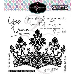 A Queen's Crown, Colorado Craft Company Clear Stamps -