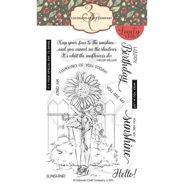 Summer Season: Sunflowers, Colorado Craft Company Clear Stamps -