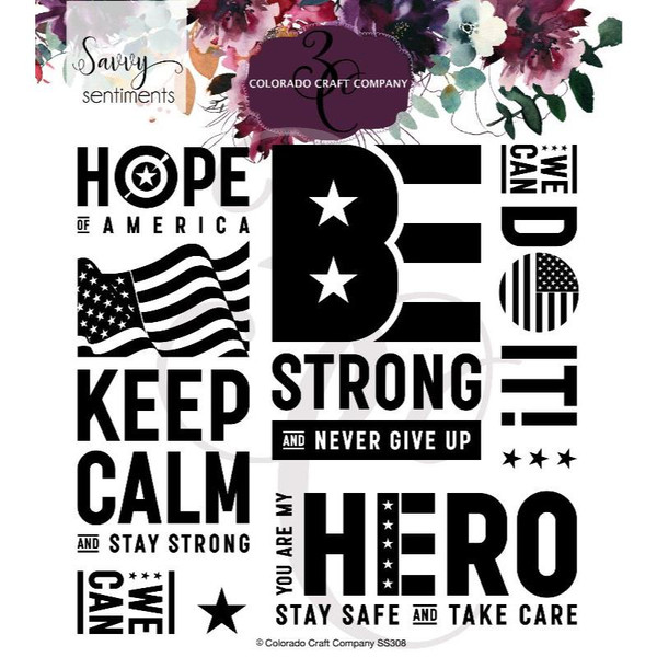 America Strong, Colorado Craft Company Clear Stamps -