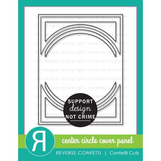 Center Circle Cover Panel, Reverse Confetti Cuts -