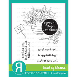 Bowl of Blooms, Reverse Confetti Clear Stamps -