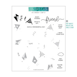 Kite Turnabout, Concord & 9th Clear Stamps - 717932697733