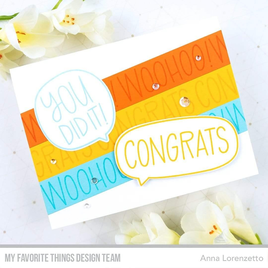 All the Encouragement, My Favorite Things Clear Stamps - 849923035399