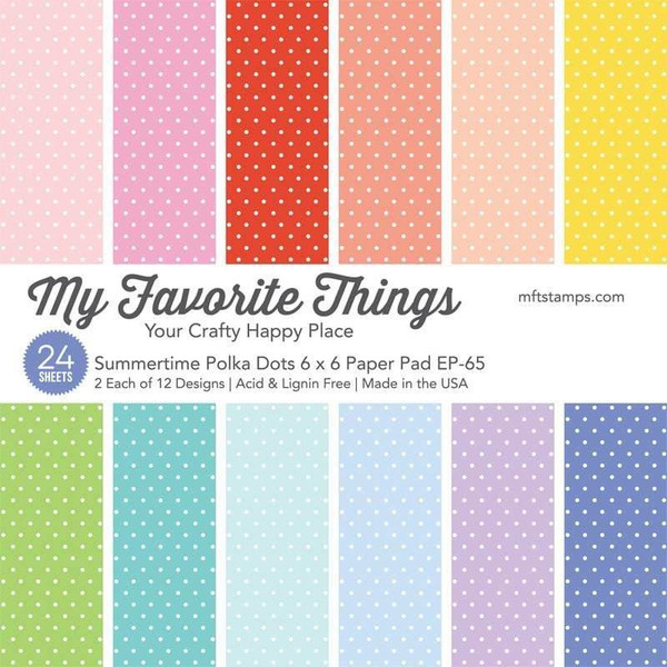 Summertime Polka Dots, My Favorite Things Paper Pack - 849923035351