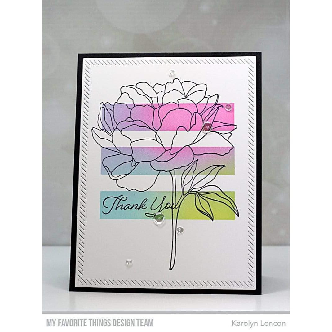 Peony Perfection, My Favorite Things Cling Stamps - 849923035450
