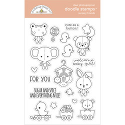 Nursery Friends, Doodlebug Clear Stamps -