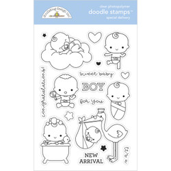 Special Delivery, Doodlebug Clear Stamps -