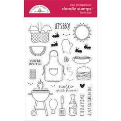 Bar-B-Cute, Doodlebug Clear Stamps -