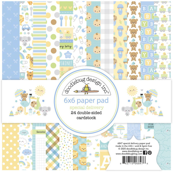 Special Delivery, Doodlebug 6 X 6 Paper Pad -
