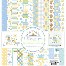 Special Delivery, Doodlebug 12 X 12 Paper Pack -