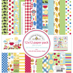 Bar-B-Cute, Doodlebug 12 X 12 Paper Pack -
