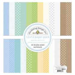 Special Delivery Petite Print Assortment, Doodlebug 12 X 12 Paper Pack -