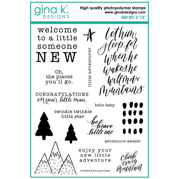 Baby Boy, Gina K Designs Clear Stamps - 609015526484