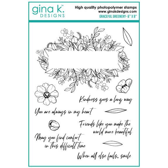 Graceful Greenery, Gina K Designs Clear Stamps - 609015526514