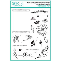 Free to Flourish, Gina K Designs Clear Stamps - 609015526507
