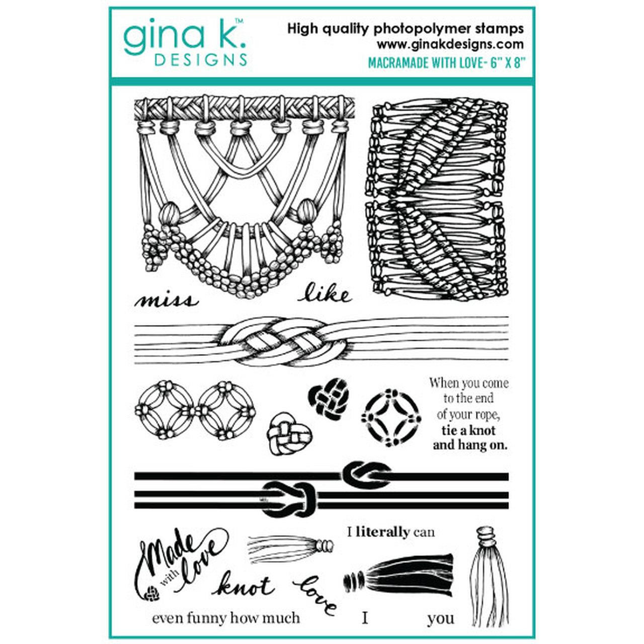 Macramade with Love, Gina K Designs Clear Stamps - 609015526538