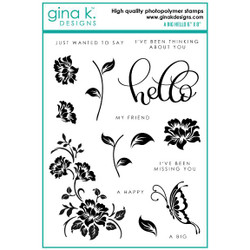 A Big Hello, Gina K Designs Clear Stamps -