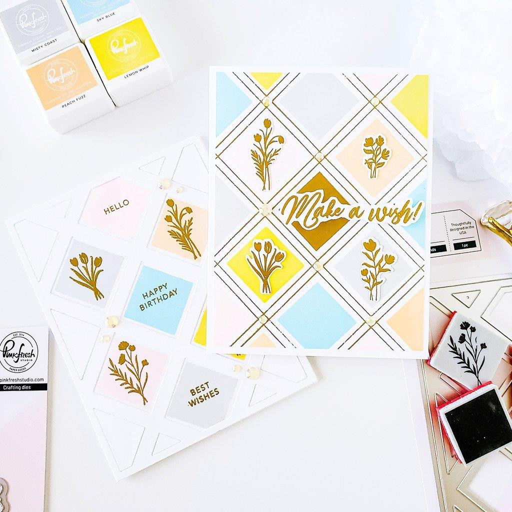 Pop Out Diamonds, Pinkfresh Studio Cling Stamps - 736952867636