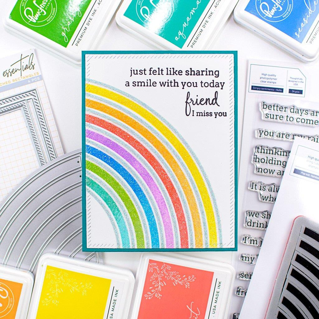 Pop Out Rainbow, Pinkfresh Studio Cling Stamps - 736952867698
