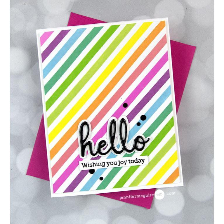 Pop Out Diagonal Stripes, Pinkfresh Studio Cling Stamps - 736952867704
