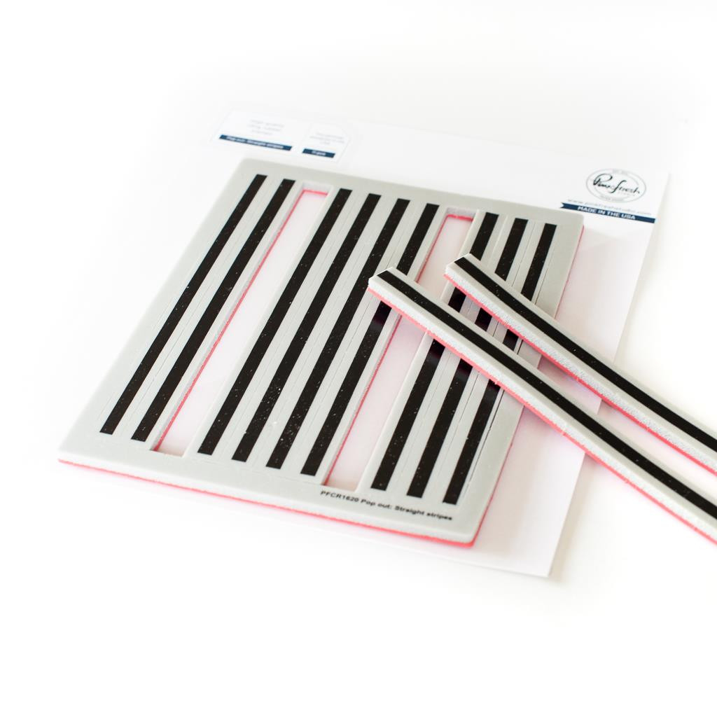 Pop Out Straight Stripes, Pinkfresh Studio Cling Stamps - 736952867711