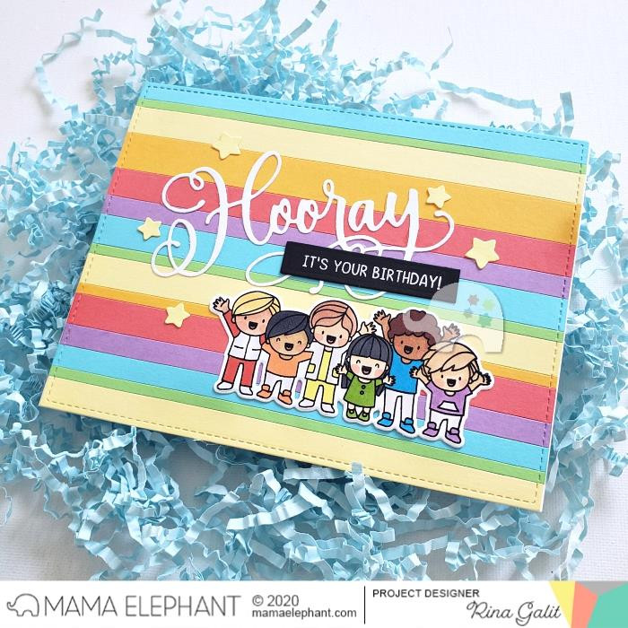 Hooray Wishes, Mama Elephant Clear Stamps -