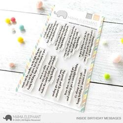Inside Birthday Messages, Mama Elephant Clear Stamps -