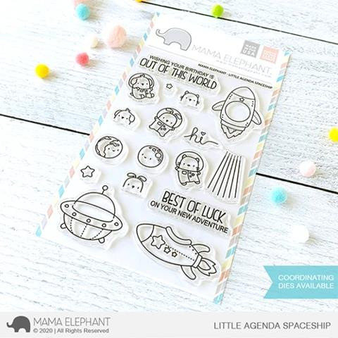 Little Agenda Spaceship, Mama Elephant Clear Stamps -