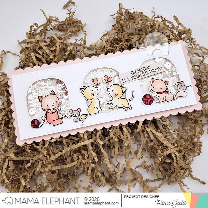 My Pet Kitties, Mama Elephant Clear Stamps -