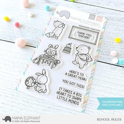 School Rules, Mama Elephant Clear Stamps -