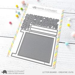 Letter Board, Mama Elephant Creative Cuts -