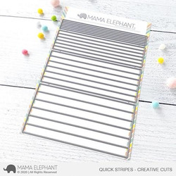 Quick Stripes, Mama Elephant Creative Cuts -