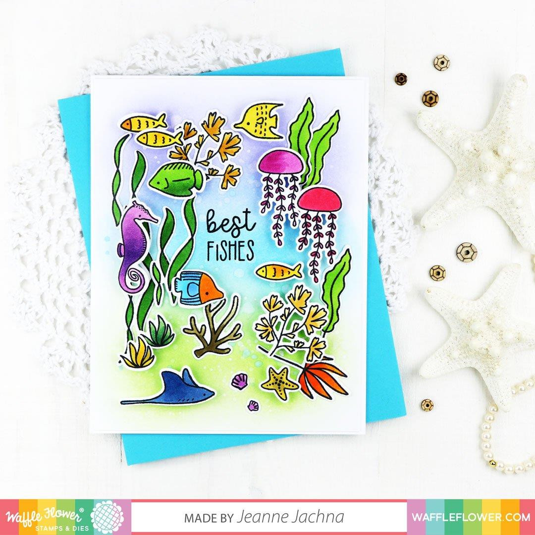 Sea Birthday, Waffle Flower Clear Stamps - 780348638904