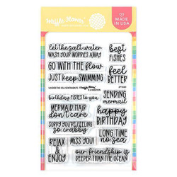 Under the Sea Sentiments, Waffle Flower Clear Stamps - 780348638928