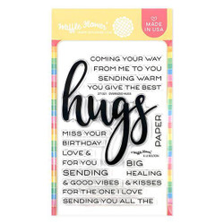 Oversized Hugs, Waffle Flower Clear Stamps - 780348638935