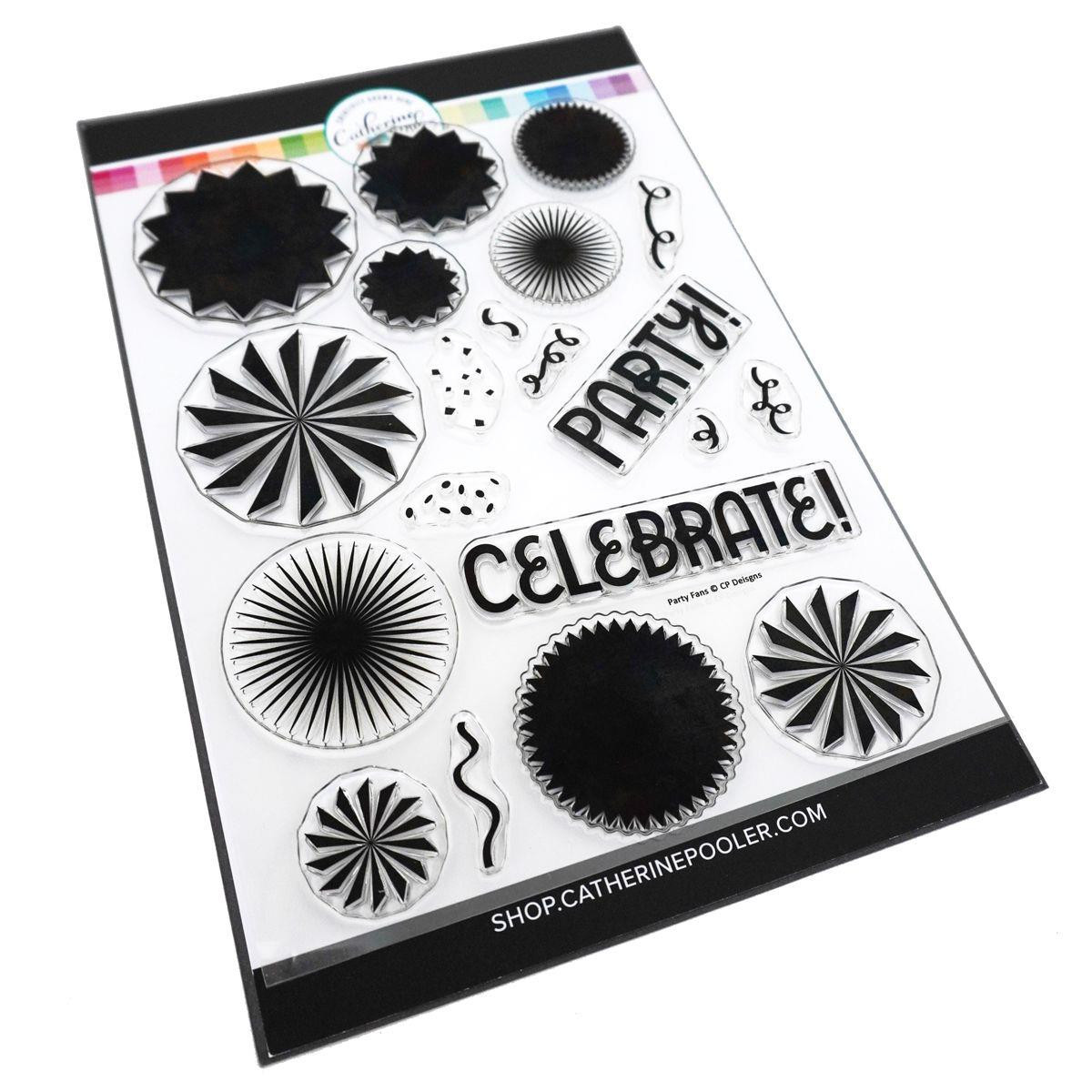 Party Fans, Catherine Pooler Clear Stamps - 819447027743